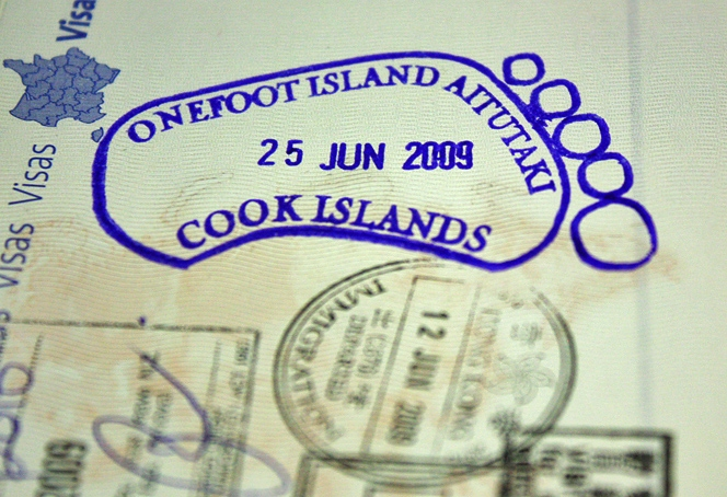 One Foot Island Passport Stamp